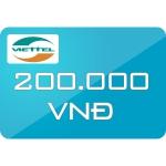 Thẻ Cào Viettel 200.000đ