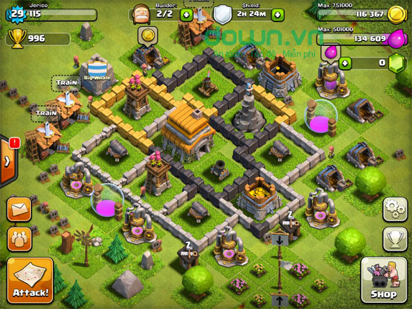Chơi game Clash Of Clans