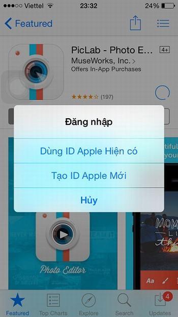 Tạo ID Apple nước ngoài mới