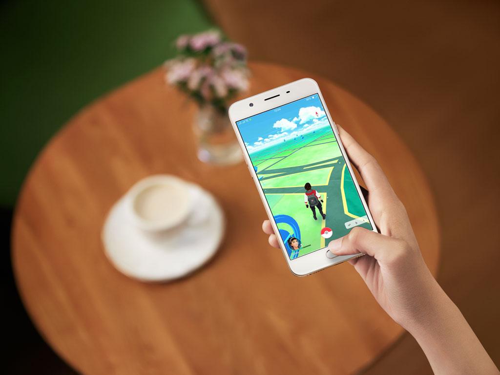 Trải nghiệm game Pokémon Go trên Oppo F1s