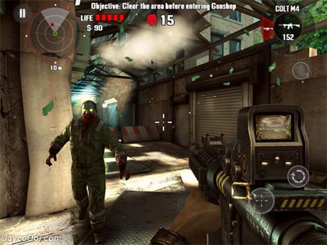 Giao diện của game Dead Trigger