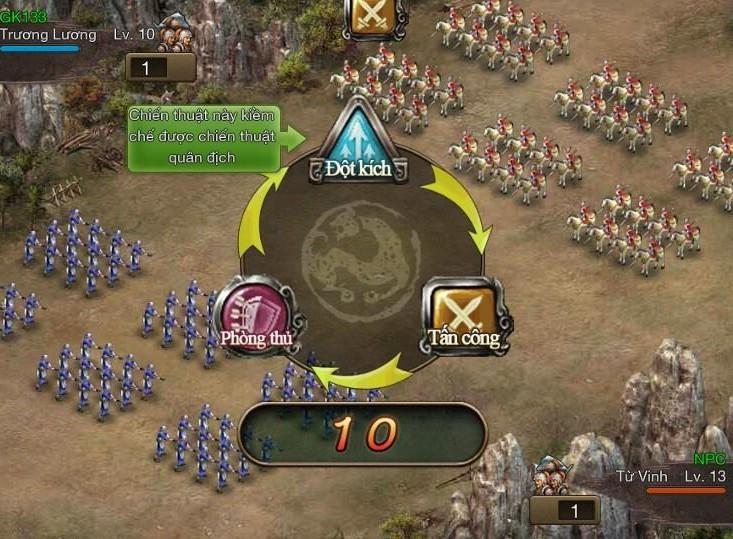 Giao diện game công thành xưng đế