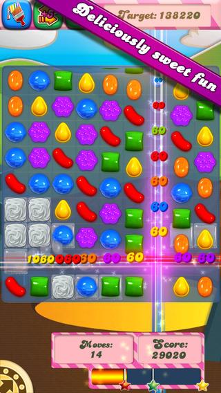 Ảnh chụp màn hình game candy Crush saga